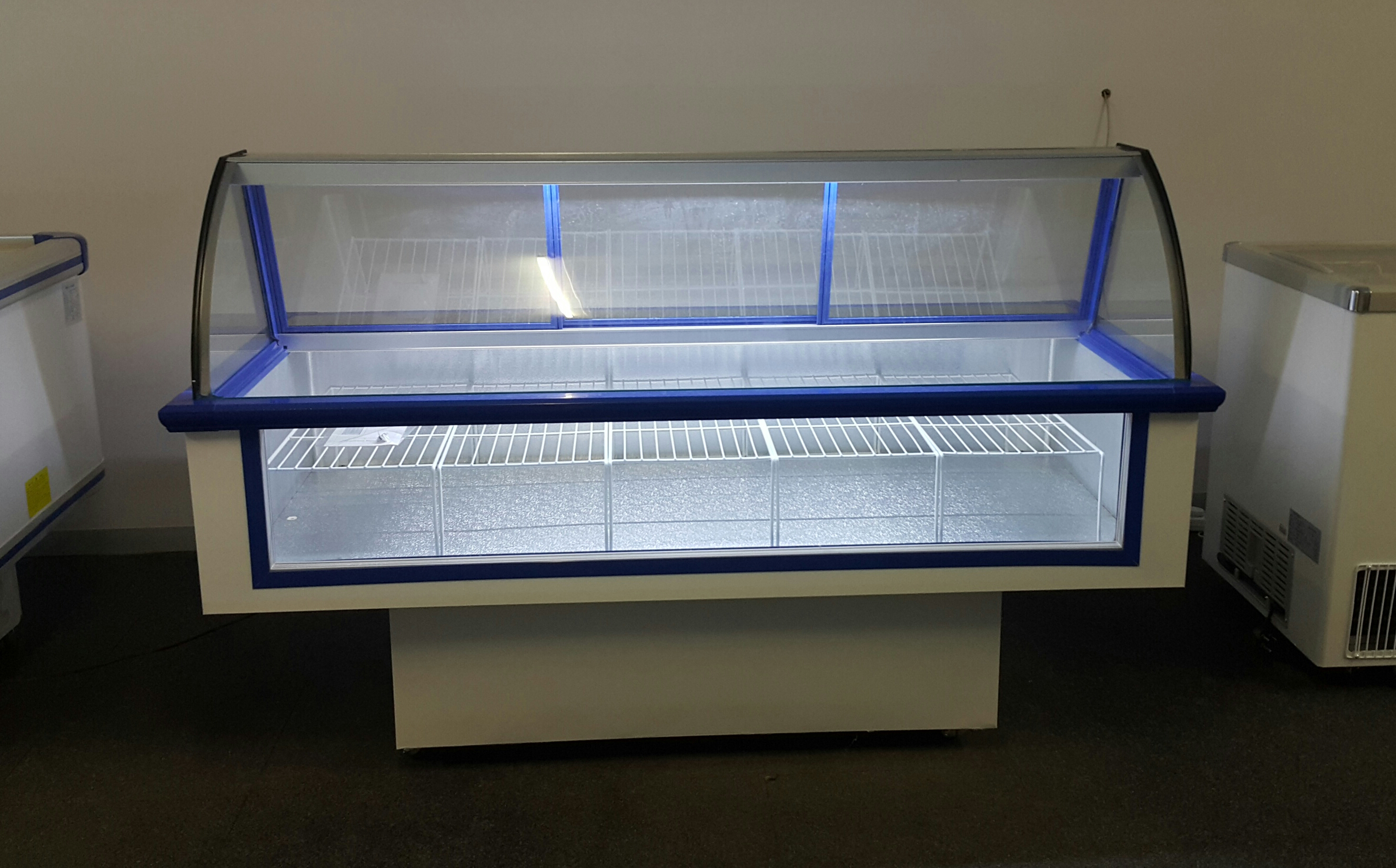 Meat Display Fridge Curved Glass Deli Butchery Front