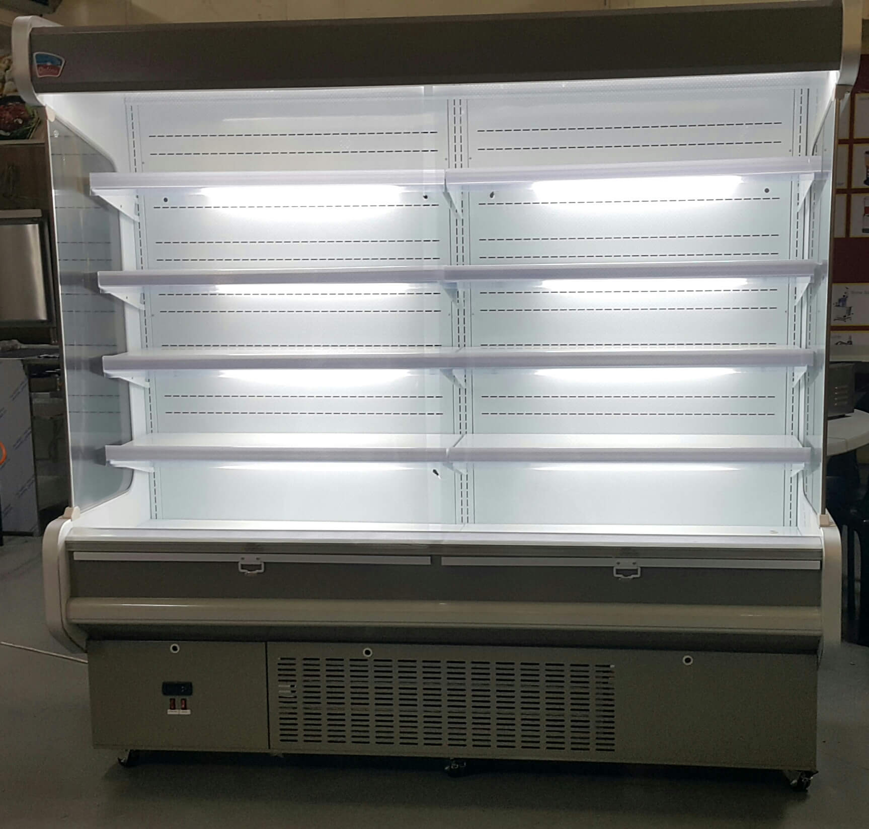 2 Metre Open Air Wall Chiller Upright Supermarket Display