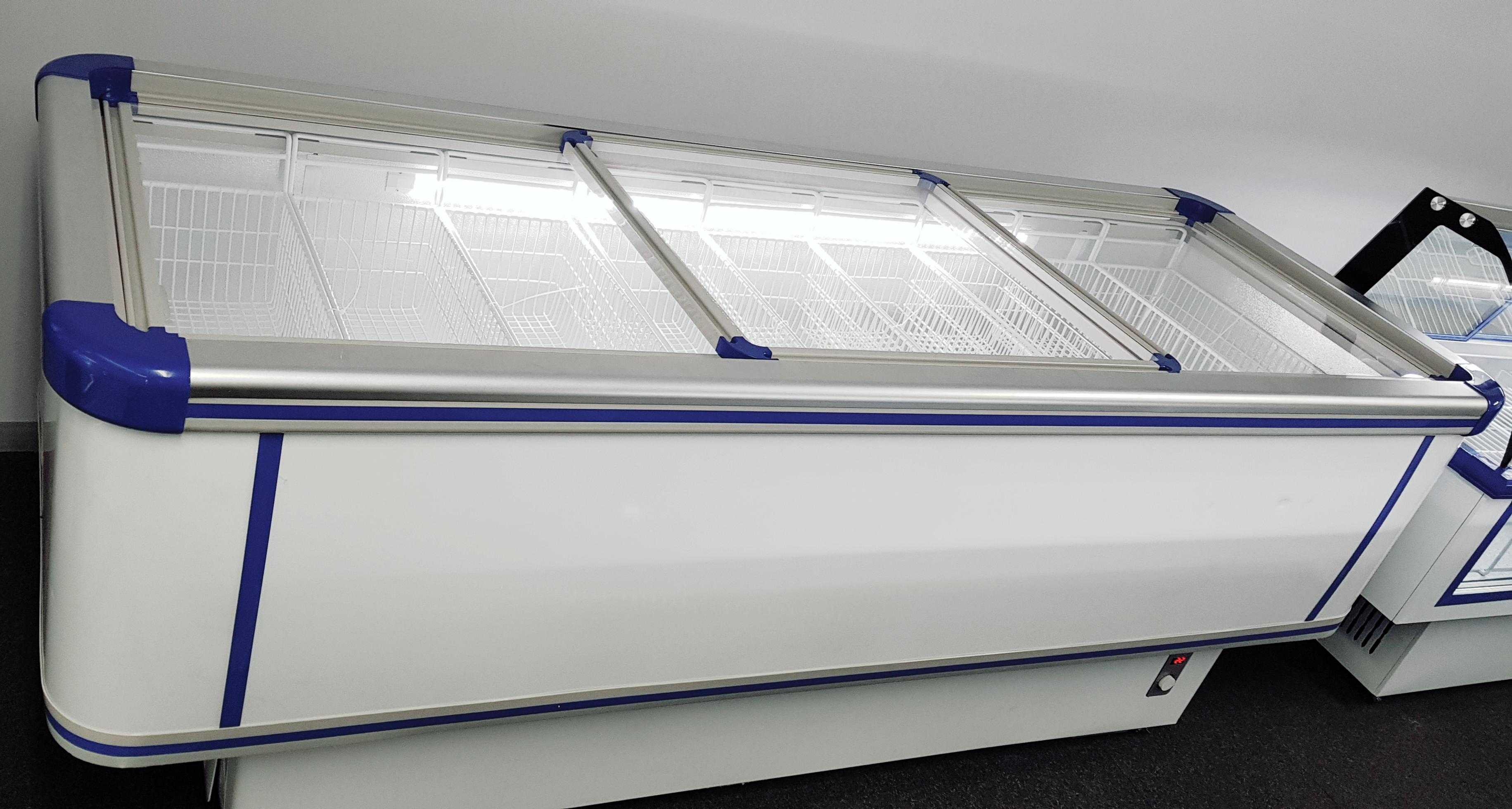 Display Freezer Glass Top Freezer Island Freezer For