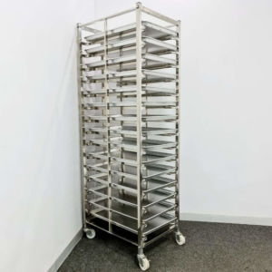 BAKING TROLLEY – ROLLING TROLLEY – OVEN TROLLEY – BAKERY TRAY RACK TROLLEY – FOOD DELIVERY CART – COOLING RACK TROLLEY